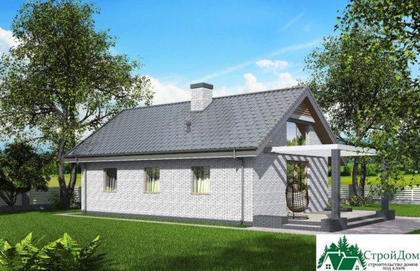 Проект одноэтажного дома SD-350 вид  2-15