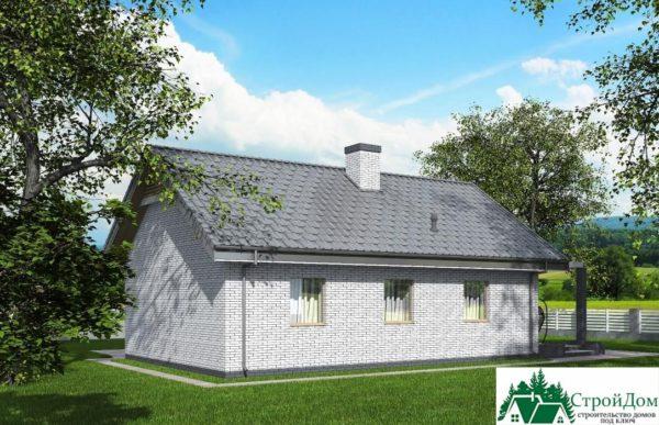 Проект одноэтажного дома SD-350 вид  3-15