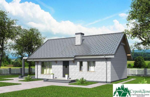 Проект одноэтажного дома SD-350 вид  4-15