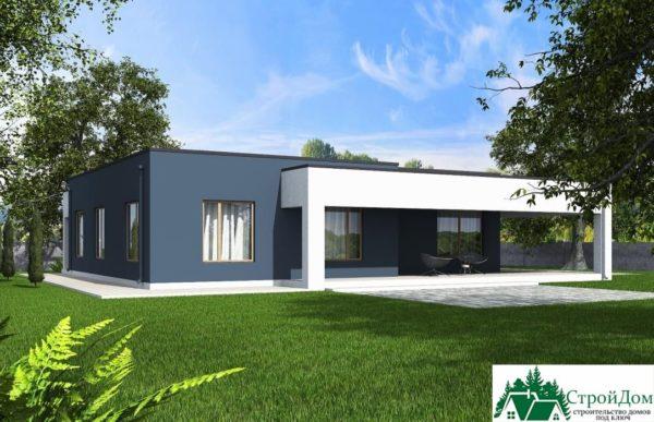 Проект одноэтажного дома SD-379 вид  4-14