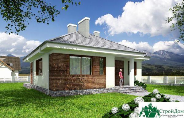 Проект одноэтажного дома SD-601 вид  1-16