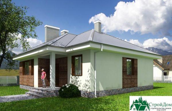 Проект одноэтажного дома SD-601 вид  2-16