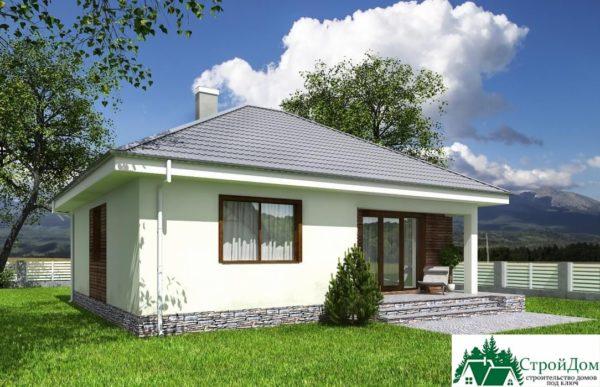 Проект одноэтажного дома SD-601 вид  3-16