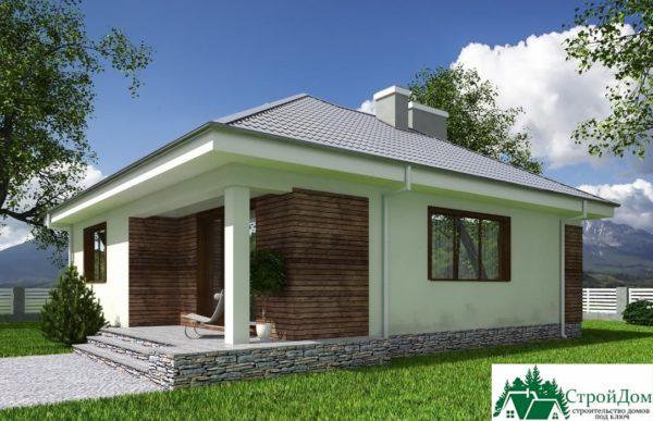 Проект одноэтажного дома SD-601 планировка 1 этажа 1-16