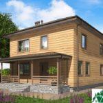 Двухэтажный дом с террасой SD-400 Вид1