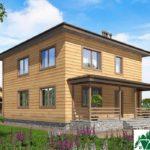 Двухэтажный дом с террасой SD-400 Вид4