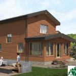 Двухэтажный дом с верандой и гаражом SD-279 Вид1