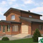 Двухэтажный дом с верандой и гаражом SD-279 Вид2