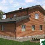 Двухэтажный дом с верандой и гаражом SD-279 Вид3