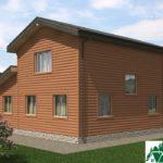 Двухэтажный дом с верандой и гаражом SD-279 Вид4