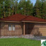 Одноэтажный дом с гаражом и террасой SD-171 Вид1