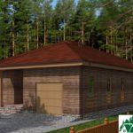 Одноэтажный дом с гаражом и террасой SD-171 Вид2