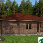 Одноэтажный дом с гаражом и террасой SD-171 Вид3