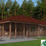 Одноэтажный дом с гаражом и террасой SD-171 Вид4