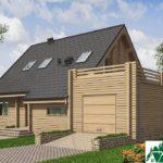Одноэтажный дом с мансардой, гаражом и террасой SD-378 Вид2