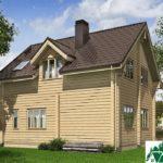 Одноэтажный дом с мансардой и и балконом SD-345 Вид3
