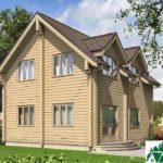 Одноэтажный дом с мансардой и и балконом SD-345 Вид4