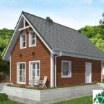 Одноэтажный дом с мансардой и террасой SD-021 Вид1