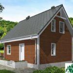 Одноэтажный дом с мансардой и террасой SD-021 Вид2