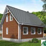 Одноэтажный дом с мансардой и террасой SD-021 Вид3