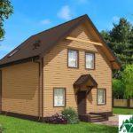 Одноэтажный дом с мансардой и террасой SD-672 Вид1
