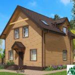 Одноэтажный дом с мансардой и террасой SD-672 Вид2