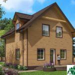 Одноэтажный дом с мансардой и террасой SD-672 Вид3