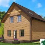 Одноэтажный дом с мансардой и террасой SD-672 Вид4