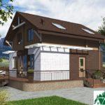Одноэтажный дом с мансардой SD-659 Вид1