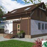 Одноэтажный дом с мансардой SD-659 Вид2