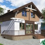 Одноэтажный дом с мансардой SD-659 Вид3