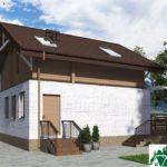 Одноэтажный дом с мансардой SD-659 Вид4