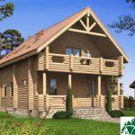 Одноэтажный дом с мансардой, террасами и балконами SD-432 Вид1