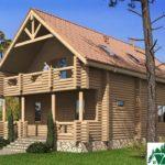 Одноэтажный дом с мансардой, террасами и балконами SD-432 Вид2