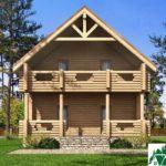 Одноэтажный дом с мансардой, террасами и балконами SD-432 Вид3