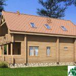 Одноэтажный дом с мансардой, террасами и балконами SD-432 Вид4