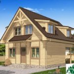 Одноэтажный дом с мансардой, террасой и балконом SD-224 Вид1