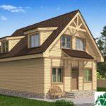 Одноэтажный дом с мансардой, террасой и балконом SD-224 Вид2