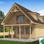 Одноэтажный дом с мансардой, террасой и балконом SD-224 Вид3