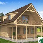 Одноэтажный дом с мансардой, террасой и балконом SD-224 Вид4