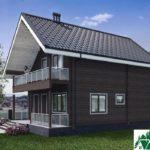 Одноэтажный дом с мансардой, террасой и балконом SD-461 Вид2
