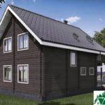 Одноэтажный дом с мансардой, террасой и балконом SD-461 Вид4