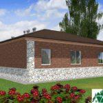 Одноэтажный дом с подвалом и террасой SD-083 Вид3