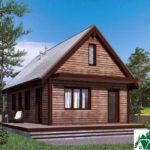 Одноэтажный дом с террасой SD-103 Вид1