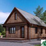 Одноэтажный дом с террасой SD-103 Вид2