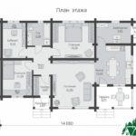 Одноэтажный дом с террасой SD-636 План2