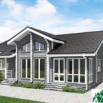 Одноэтажный дом с верандой SD-725 Вид1