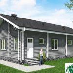 Одноэтажный дом с верандой SD-725 Вид2