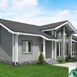 Одноэтажный дом с верандой SD-725 Вид4
