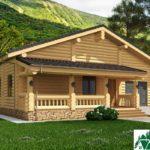 Проект деревянного дома с террасами и гаражом SD-131 Вид1